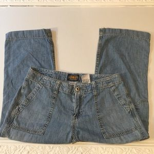 Vintage Lucky Brand Industrial capri cropped 6 28
